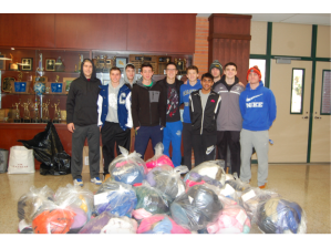Boys Basketball Coat Drive. Image courtesy of Brad Banaszynski.