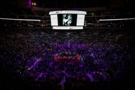 Kobe and Gigi Bryant Memorial Service, Los Angeles, USA - 24 Feb 2020